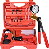 Thorstone 16PCS Brake Clutch Bleeder Tool Kit & Hand Held Vacuum Pump Tester with Adapters,One Man Operation for Bike,Motorcycle,Car,Truck