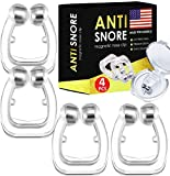 4X Anti Snoring Solution, Professional Anti Snoring Devices, Silent Snore Reducing Aid for Men and Girl, Snore Away Nose Vents, Snore Stopper Nose Clip