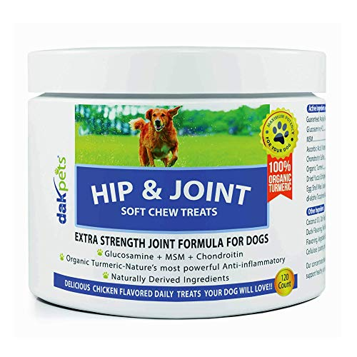 Dak Pets Glucosamine Chondroitin Advanced Hip & Joint Supplements for Dogs
