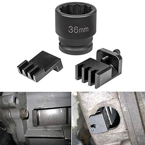E-cowlboy Flywheel Locking Tool with 36mm 3/4'' Socket for 6.6L Duramax