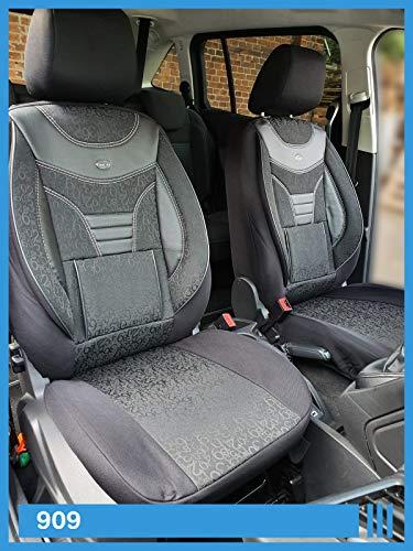 Maß Sitzbezüge kompatibel mit VW T5 T6 Caravelle/Transporter Fahrer & Beifahrer ab BJ 2003 Farbnummer: 909