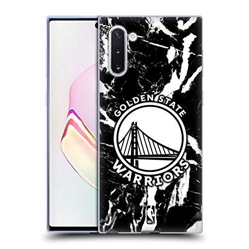 Head Case Designs Licenciado Oficialmente NBA Mármol 2019/20 Golden State Warriors Carcasa de Gel de Silicona Compatible con Samsung Galaxy Note10 / 5G