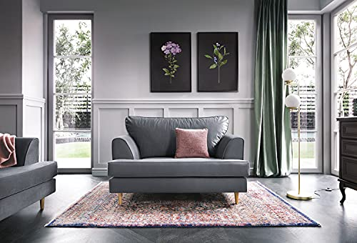 | Harper 2 or 3 Seater Sofa Love Cuddle Chair Armchair Couch Settee in Dark...