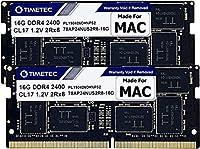 Timetec Hynix IC 32GB(2x16GB) Mac用 DDR4 2400MHz PC4-19200 SODIMM Apple専用増設メモリ 永久保証 32GB(2x16GB)