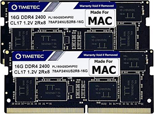 Timetec Hynix IC Apple 16GB DDR4 2400MHz PC4-19200 SODIMM Memory Upgrade for iMac Retina 4k/5K 21.5-inch/27-inch Mid 2017 (32GB(16GBx2))