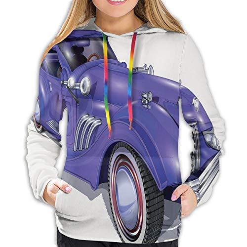 Women's Hoodies Tops,Custom Vehicle with Aerodynamic Design for High Speeds Cool Wheels Hood Spoilers,Lady Fashion Casual Sweatshirt(S)