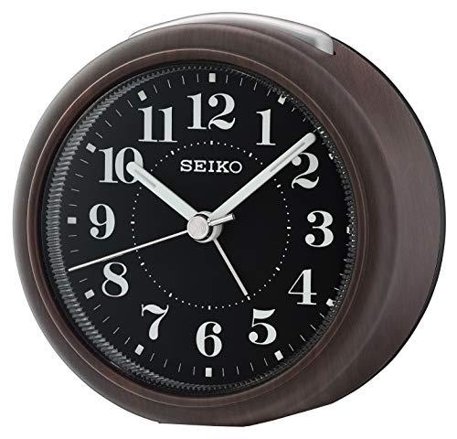 Seiko Wecker schwarz Kunststoff Schleichende Sekunde QHE157A
