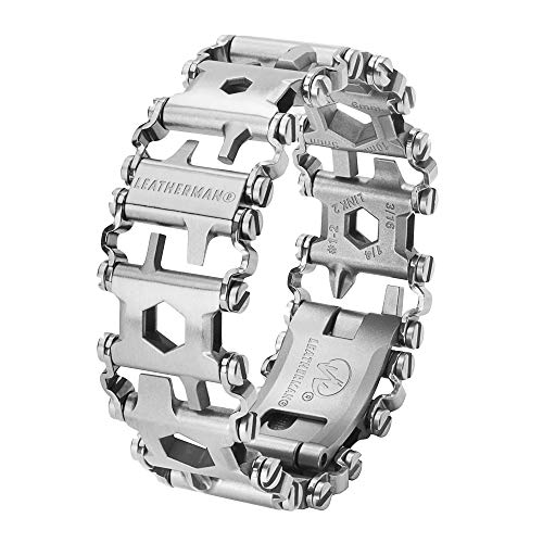 Leatherman Tread - Pulsera multiusos con 29 herramientas incluyendo destornilladores, llaves hexagonales e inglesas, herramienta de bricolaje hecha en EE.UU, acero inoxidable