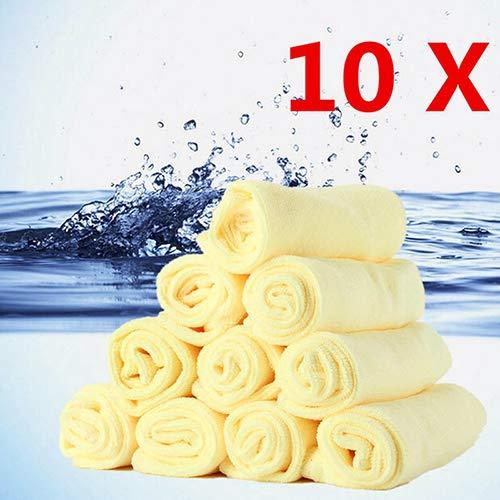 Auto Reiniging En Onderhoud Handdoek 10 Stks Microvezel Keukenwas Auto Auto Thuis Droge Polijstdoek Reiniging Handdoek