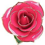 バラ 造花 ローズ Getonny 24K鍍金製 ホンコン フラワー ホワイトデー バレンタインデー ミツバー 結婚祝い お誕生日のギフト クリスマス 年末 ギフト (pink)