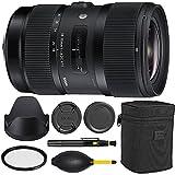 Sigma 18-35mm f/1.8 DC HSM Art Lens for Nikon -Black + Essential Bundle Kit -...
