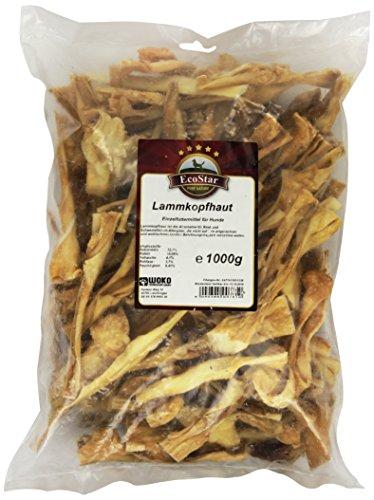 ECOSTAR Perros Snack Cordero Cuero cabelludo. 1Kg, 1er Pack (1x 1kg)