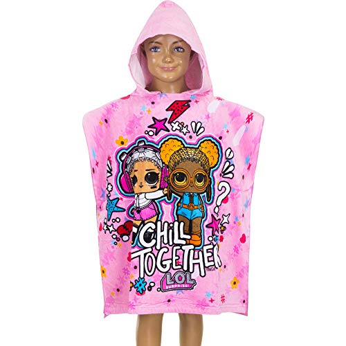 Asciugamano Poncho Bambina LOL Surprise! Rosa 100% Cotone 60 x 120 cm