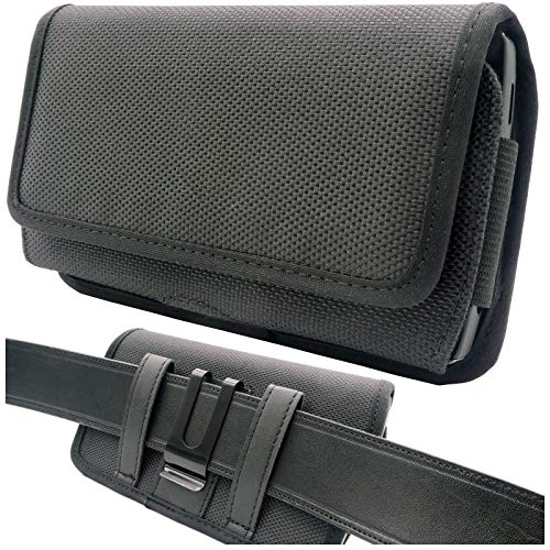 scozzi Handy Gürteltasche quer Gürtel Tasche Handytasche Handyhalterung Halterung universal (kompatibel mit Samsung,iPhone,Huawei) S20 S10 S9 A71 A51 M40 P40 P30 12 11 X XS XR Plus Mini Lite Ultra Pro