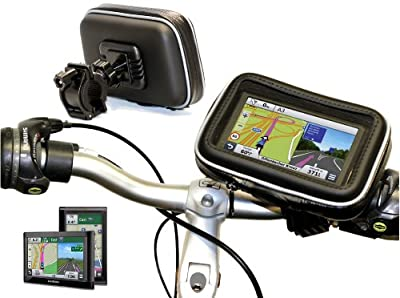"Navitech Cycle/Bike/Bicycle & Motorbike Waterproof 7"" Sat/Nav GPS Mount And Case Compatible With The Garmin Nuiv 2799 LMT-D PLUS/Garmin Dezl 760 LMT-D/Garmin Camper 760 LMT-D"