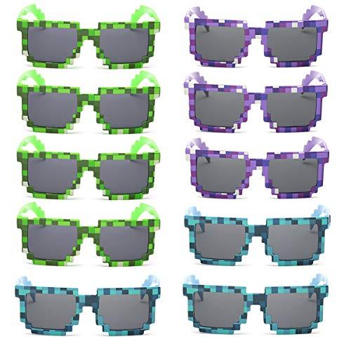 kilofly 10 gafas de sol de 8 bits para jugadores de