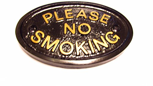 Home Works Plaque Murale Veuillez No Smoking/Panneau Keep Fumeurs indésirables Away