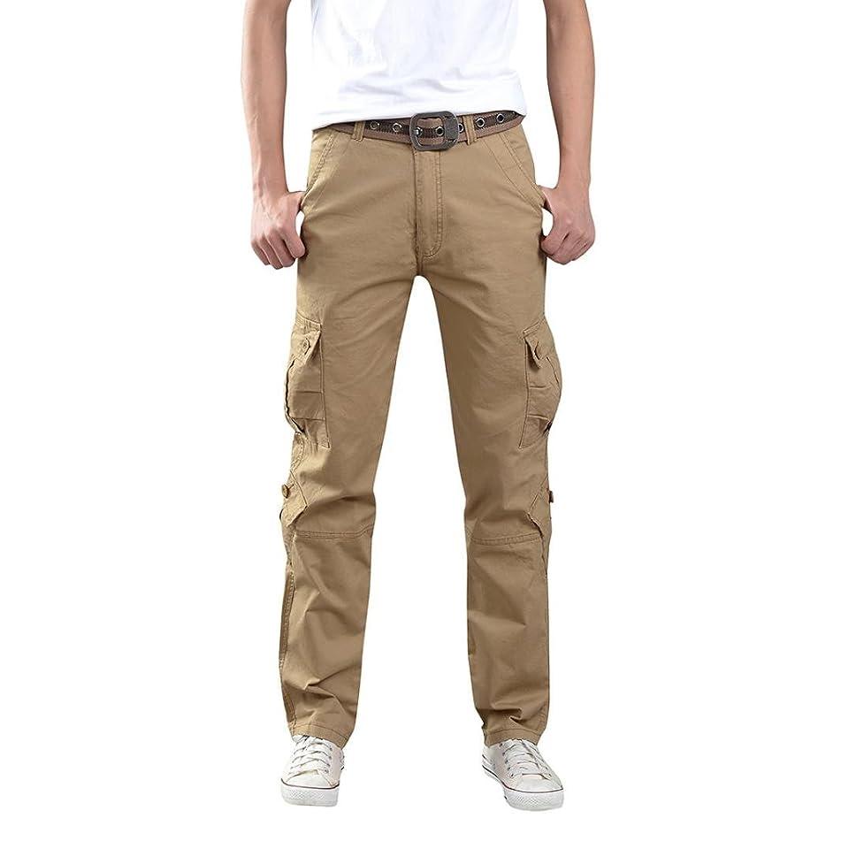 Aurorax Men's Casual Cargo Pants, Multi-Pocket Sports Fitness Camo Work Pants
