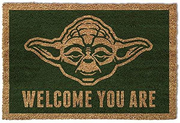 1art1 Star Wars Door Mat Floor Mat Yoda Welcome You Are 24 X 16 Inches