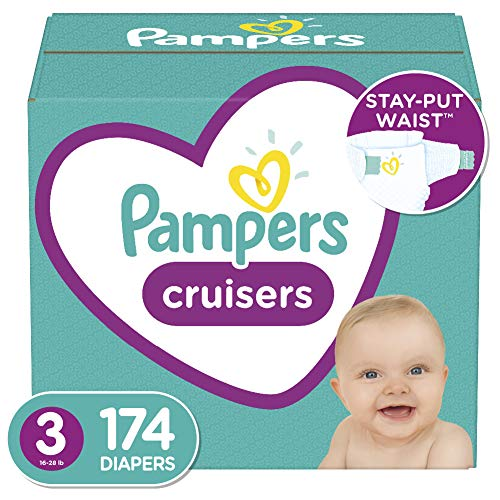 Diapers Size 3, 174 Count – Pampers Cruisers Disposable Baby Diapers, ONE MONTH SUPPLY (Packaging May Vary)