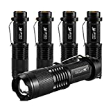 UltraFire Tactical Flashlight SK98 800 Lumens Adjustable Focus 3 Mode Small Portable Torch 5 Pack