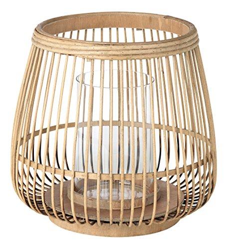 broste Copenhagen Cait Windlicht, Bambus, Natur, 22 cm