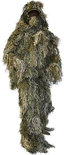 Tarnanzug Ghillie Suit (Jacke, Hose, Kopfbedeckung und Gewehrabdeckung) Farbe Woodland Größe M/L