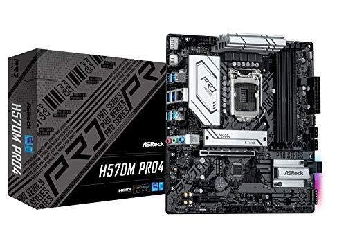 ASRock Intel 第10・11世代CPU(LGA1200)対応 H570 チップセット搭載 MicroATX マザーボード 【国内正規代理店品】 H570M Pro4