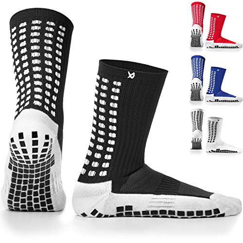 LUX Anti Slip Soccer Socks,Non Slip Football/Basketball/Hockey Sports Grip Socks