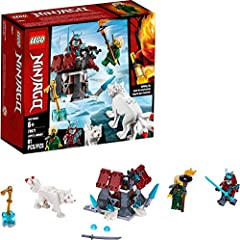 Introduce kids to NINJAGO adventures as they build Blizzard Warrior's fortress with a shooting crossbow and role-play exciting samurai battles to reclaim the golden sword with Lloyd and his wolf! Includes 2 new-for-August-2019 LEGO NINJAGO minifigure...