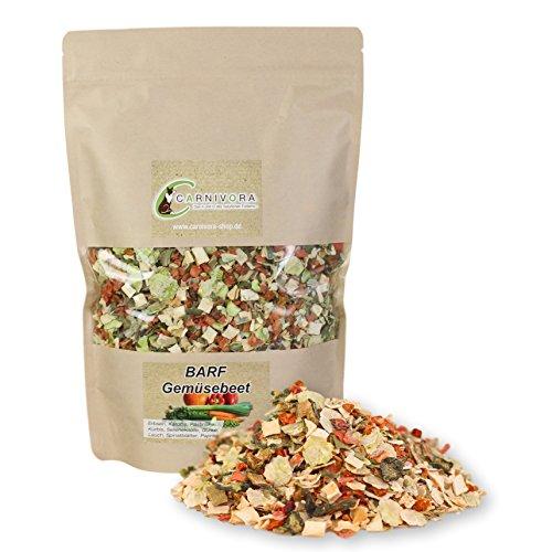 Carnivora Barf Gemüsebeet 500g - Barf Gemüse Nahrungsergänzung für Hunde - 100% natürliche Barf Gemüseflocken - getreidefreies Futter