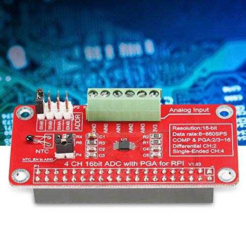 Módulo Convertidor Analógico A Digital, 1 Unidad De 16 bits ADS1115 ADC ADC Módulo Convertidor Analógico A Digital para Raspberry Pi 3/2 / B +