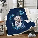 Home - Manta de felpa para mascotas con diseño de perrito, diseño de perrito, con impresión 3D, manta de sherpa, manta de...