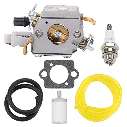BQBS 503283210 Carburetor for Husqvarna 340 340E 345 345E 346XP 350 350EPA 353 Jonsered Chainsaw Replaces ZAMA EL32 Carb with Tune-Up Kit (GA276-B)