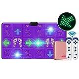 RXL Grueso El vibrato de Doble LED Luminoso cojín de la Danza del Ordenador TV de Doble Uso de la Interfaz de Inicio niños Que se Ejecutan y la máquina de Baile Insonorizar (Color : Purple)