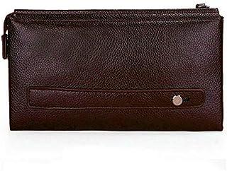 حقيبة جلد صغيرة للرجال لون بني