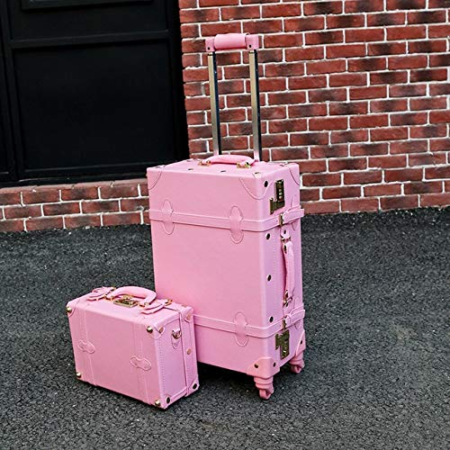 Mdsfe Snugcozy Princess series brand Travel Boardable Suitcase 20/22/24 inch size Handbags and Rolling Luggage Spinner - Pink, 22'