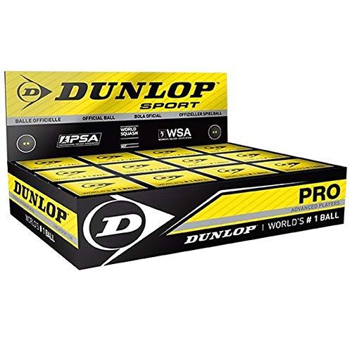 Dunlop Squashball Pro doppelgelb im Dtzd.