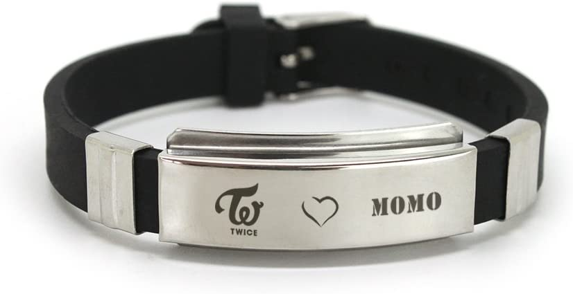 Fanstown Twice Kpop Titanium Silicon Wristband with lomo Cards Adjustable