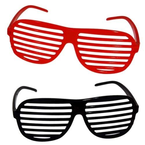 Schnooridoo 4 x Bunte Atzenbrille gemischte Farben Atzen Brille Party Karneval Partybrille