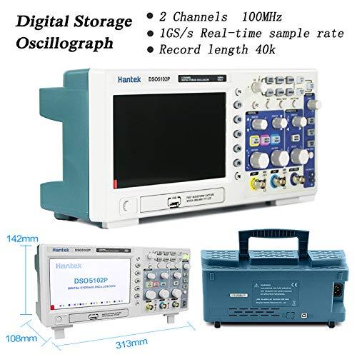 Hantek 20-010-718 100 mhz 2CH Osciloscopio Digital 1GSa/s en Tiempo Real Muestras