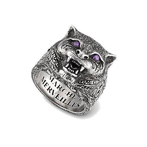 Gucci Garden Ring mit Felinekopf Größe 54 YBC524585001014
