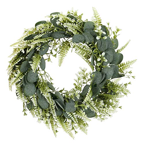 DWANCE 1Pezzi Ghirlanda di Natale Artificiale Corona per Porta d'ingresso per Natale Corona Artificiale Eucalyptus Artificiale per Porta Corona Decorazione da Parete Matrimonio per Feste Natale