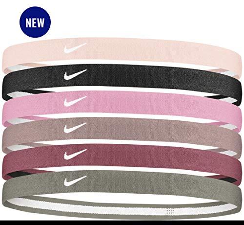 NIKE Swoosh Sport Headbands 6Pk 2.0 Cinta para la Cabeza, Unisex Adulto, pinblapin, Talla Única