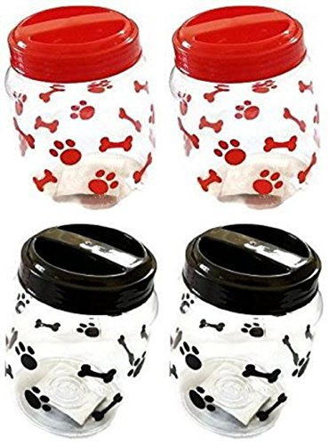 Greenbrier Pet Food Treats Plastic Storage Jars,...
