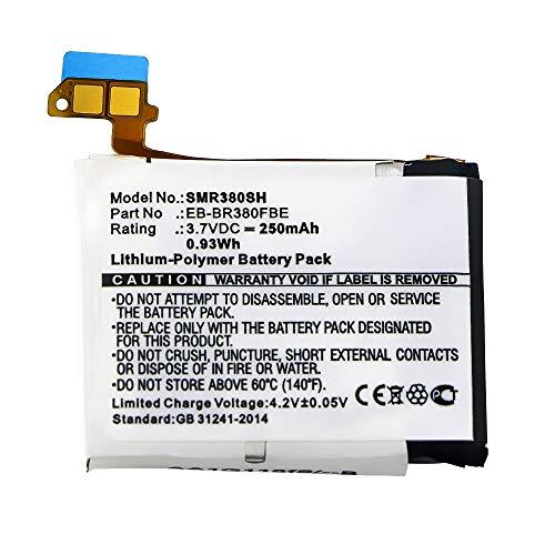 subtel ® Batteria B1230J1EA, EB-BR380FBE, PGF582224H Compatibile con Samsung Gear 2 (SM-R380) / Gear 2 Neo (SM-R381) Ricambio da 250mAh Sostituzione per Batteria Orologio smartwatch