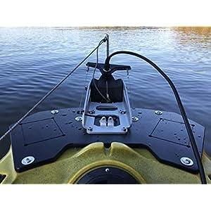 Wilderness Systems Kayak Stern Mounting Plate Gen 2   Fits ATAK 140 / Radar Kayaks   Torqueedo Motor Mount   Kayak Power Pole Mount   Kayak Accessory Mount