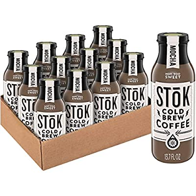 SToK Cold-Brew Coffee, Mocha, 13.7 oz. Bottle (Pack of 12)