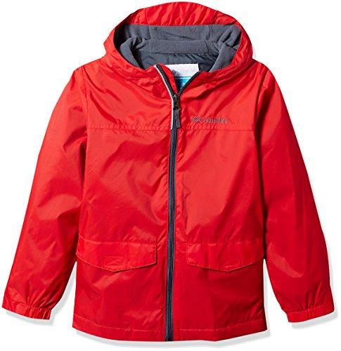 Columbia Little Boy's Rain-Zilla Jacket, Bright Red, XS