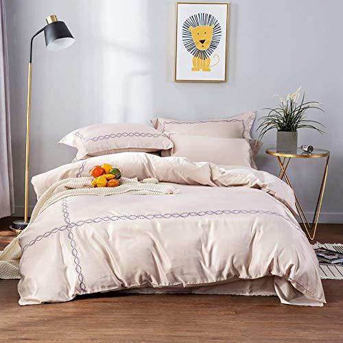 Duvet Cover Sets Satin, Silk Bedding Sets King Size, White Bedding Set Full Satin Silk Duvet Cover Sets Soft Silky 4 Piece Comforter Cover Set Shiny Vibrant Modern Simple Blue Green